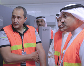 """GLOBAL's"" Inspection equipment at the Air Freight, Kuwait International Airport"
